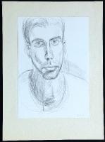 1985-01-06-Selbstpoträt wahrscheinlich ein Jahr älter datiert, Bleistift